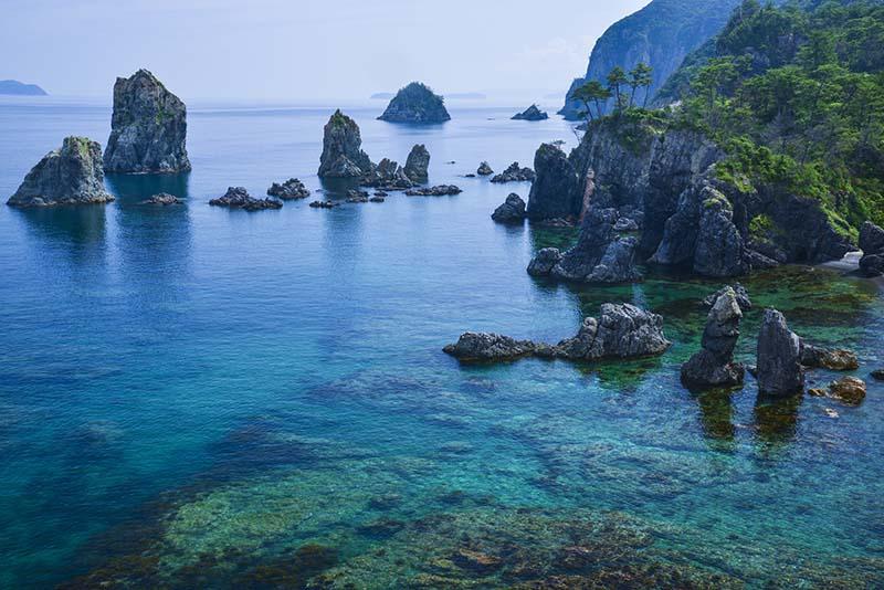 北長門海岸國定公園内的青海島