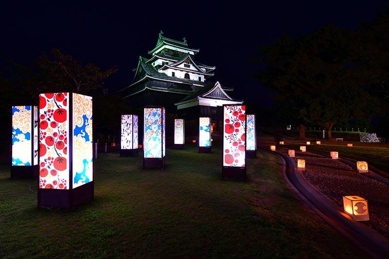 松江城水燈路