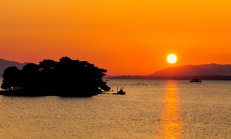 宍道湖的夕陽