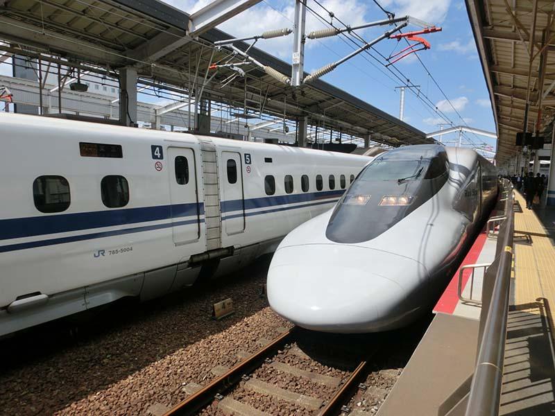 岡山站新幹線月台