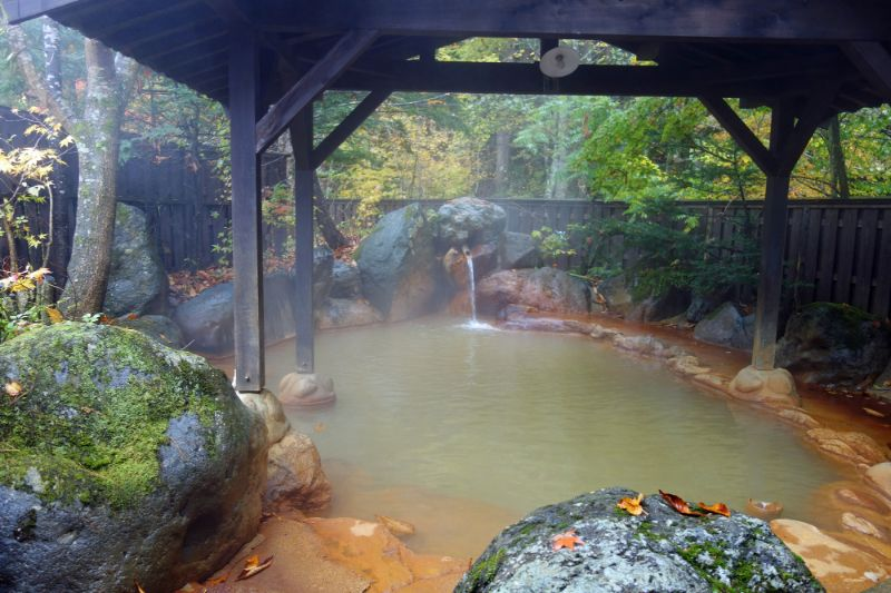 平湯溫泉的露天浴池