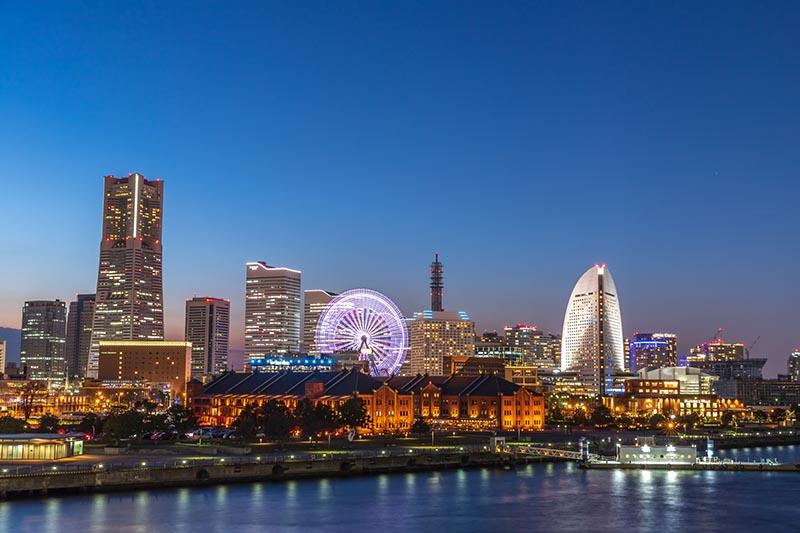 神奈川縣橫濱港未來的夜景