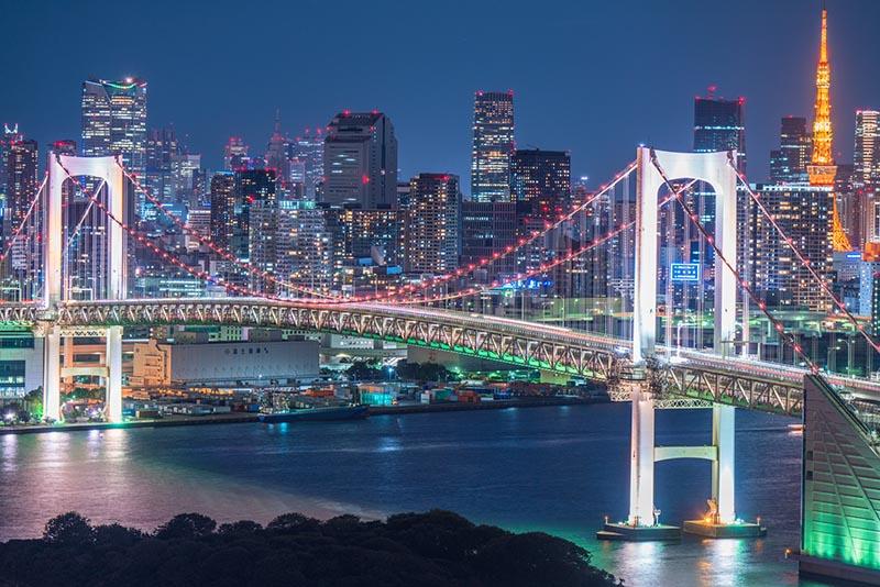 東京水岸的夜景