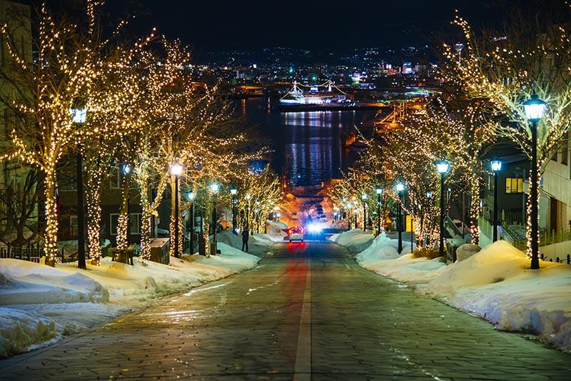 函館八幡坂的夜景