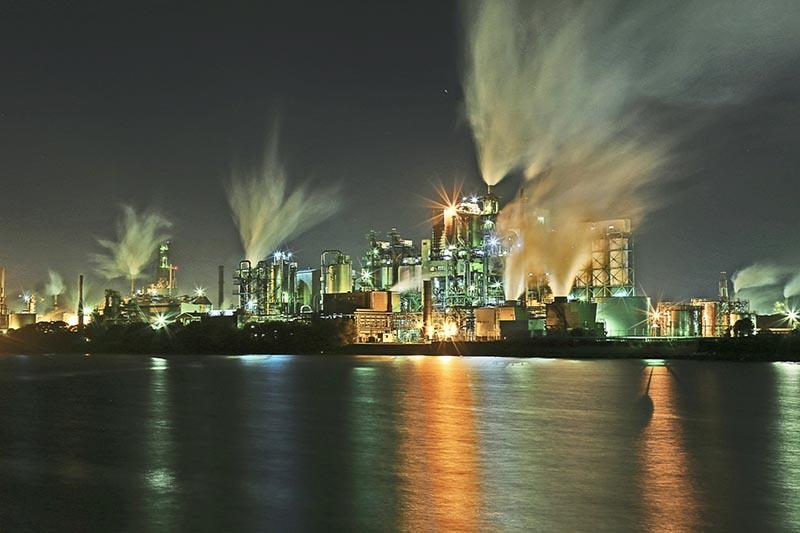 北九州的工廠夜景