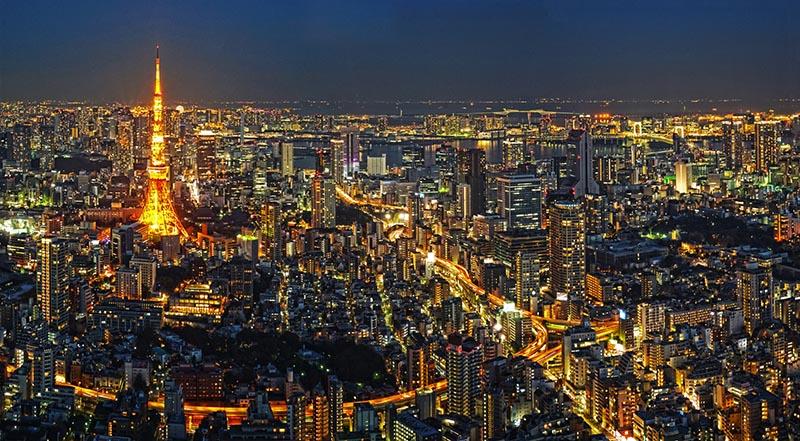 東京港區的夜景