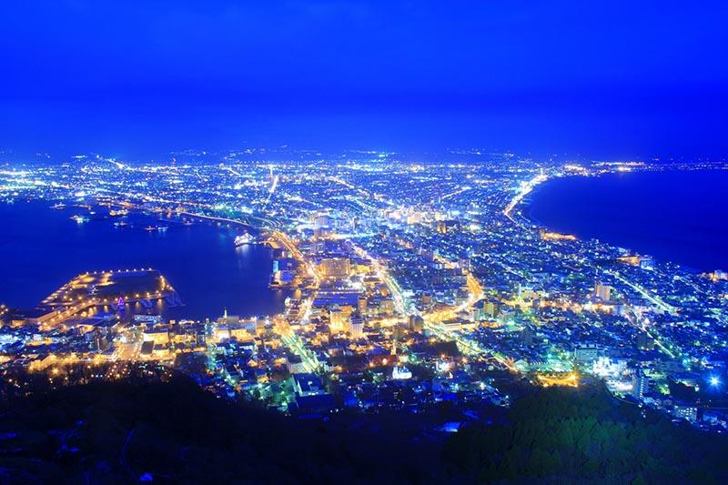 從函館山眺望的夜景