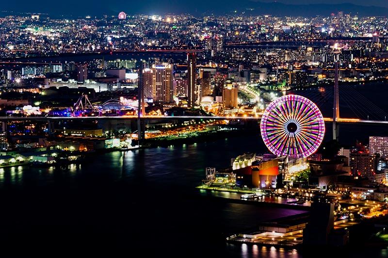 大阪港區的夜景