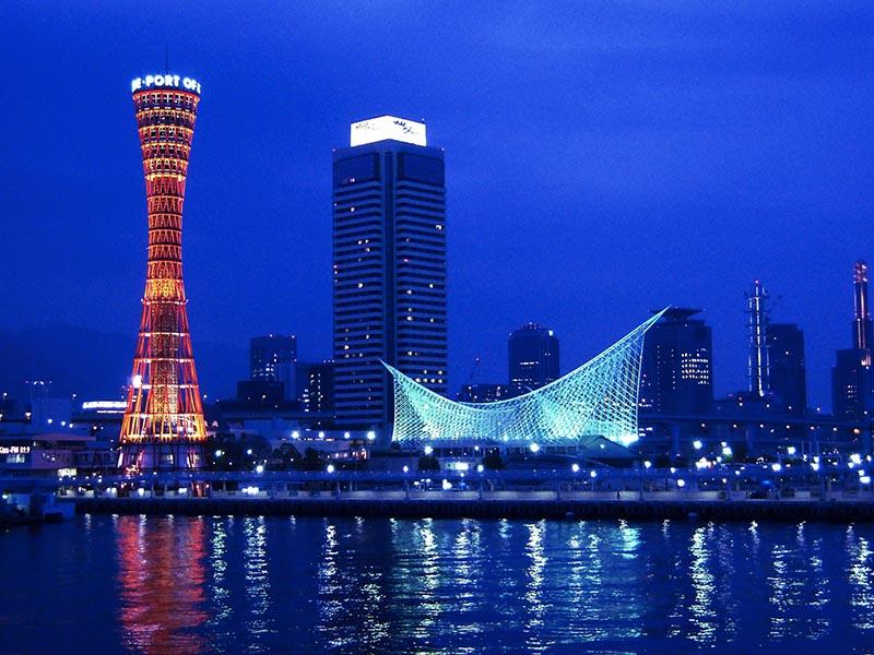 兵庫縣神戶臨海樂園的夜景