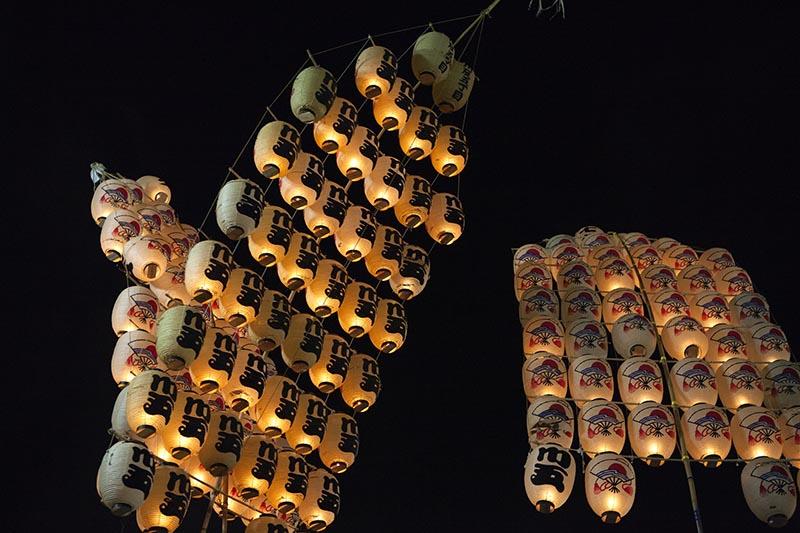 秋田的竿燈祭