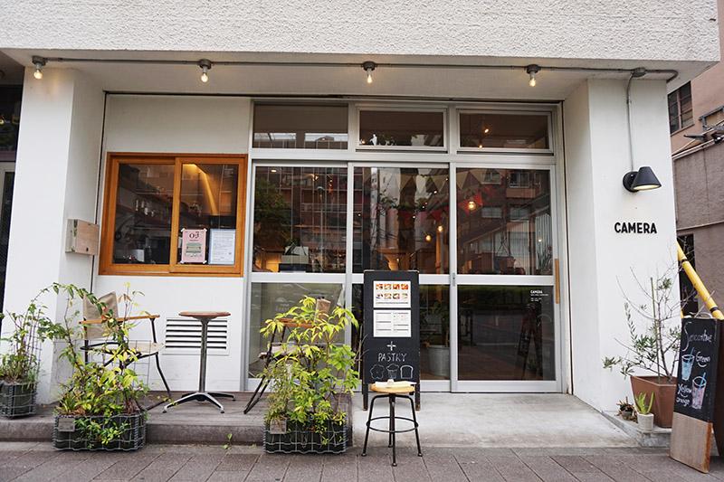 藏前道路上的雜貨咖啡店
