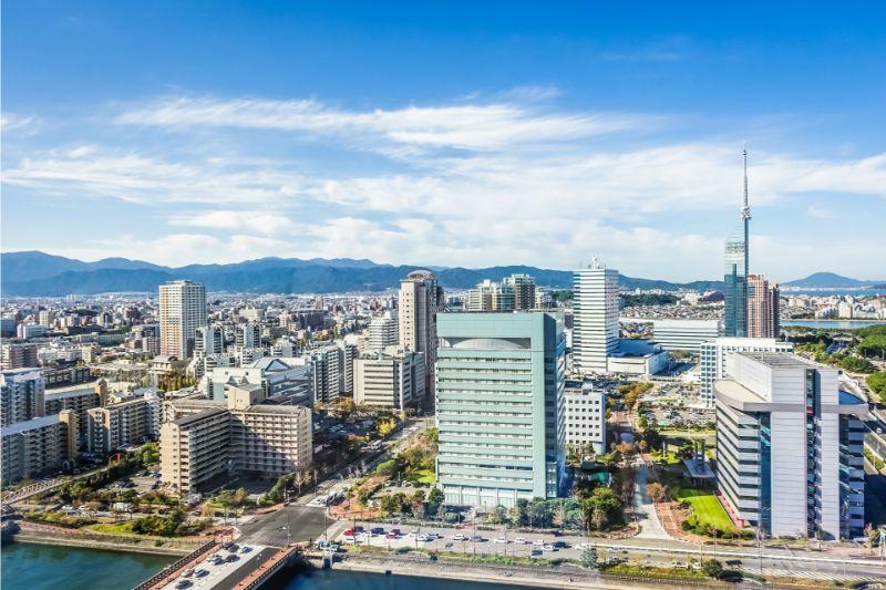 福岡的大廈群