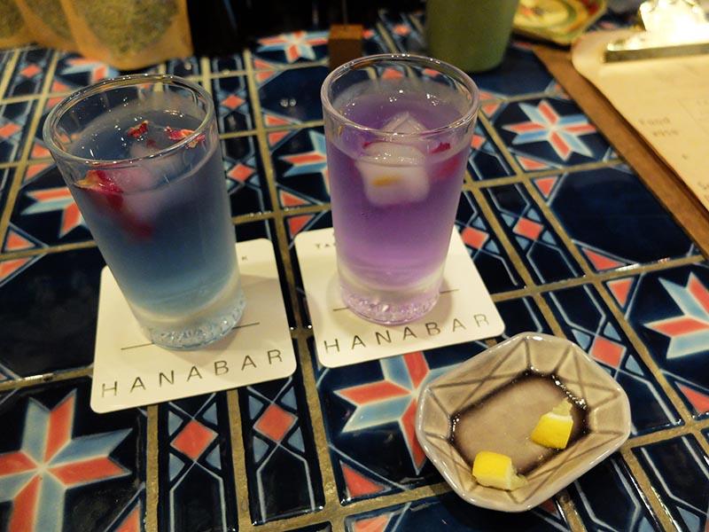 池袋HANABAR的蝶豆花茶