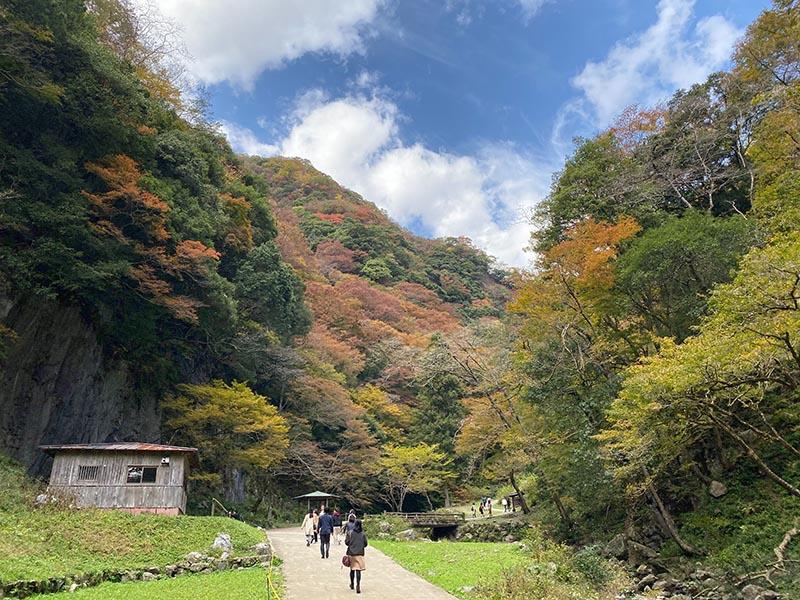神庭瀑布與紅葉