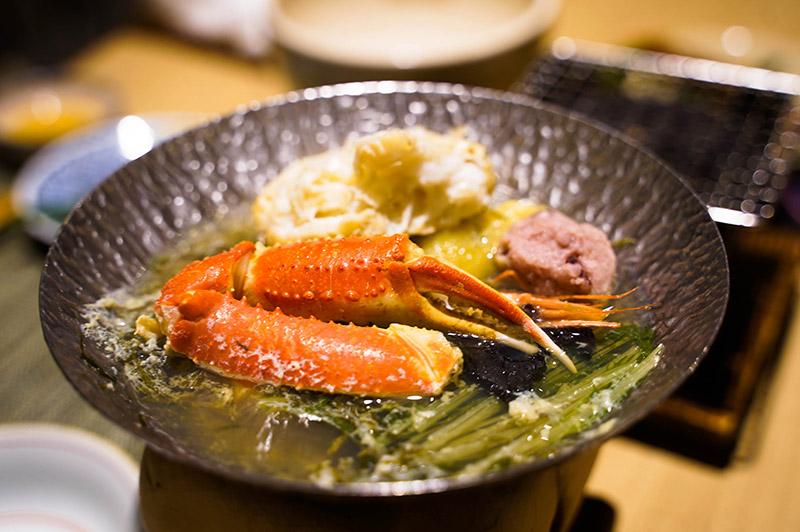 加賀屋晚餐——螃蟹魚露海鮮鍋