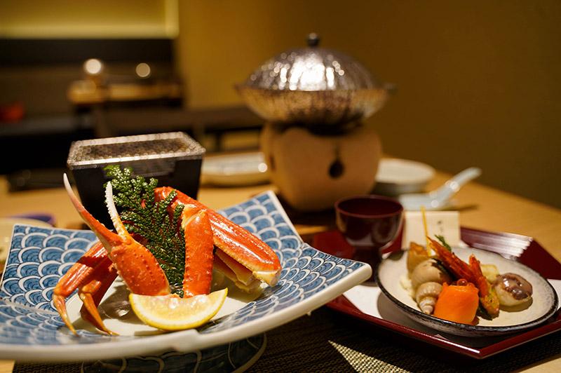 加賀屋晚餐料理「蟹會席」