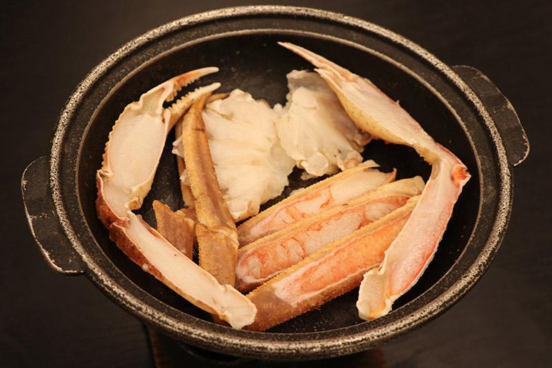 三朝館晚餐的螃蟹陶板燒
