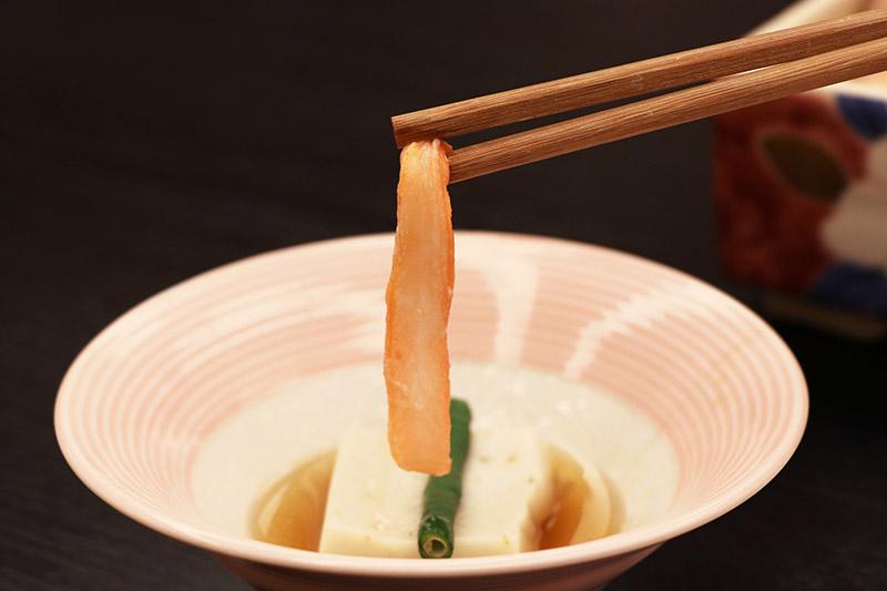 三朝館晚餐的胡麻豆腐