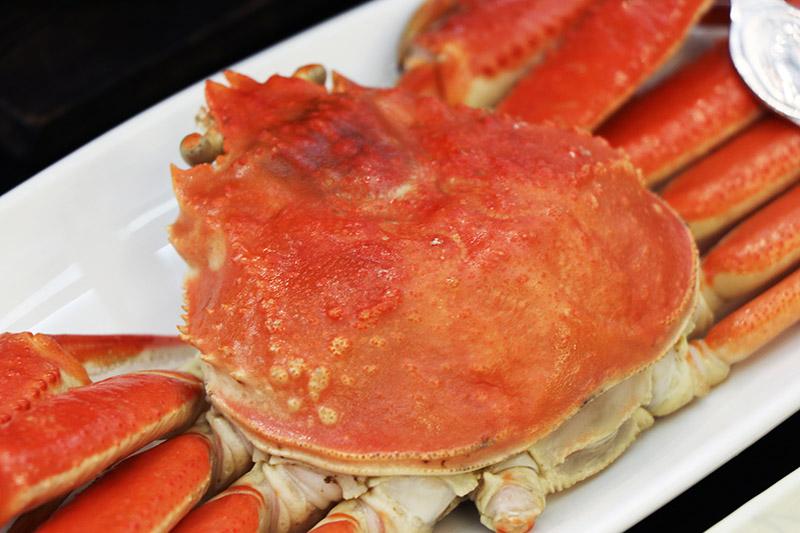三朝館晚餐的螃蟹