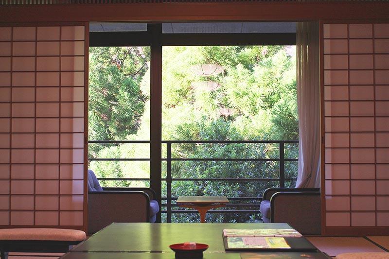 山翠樓的桃山第日式客房景觀