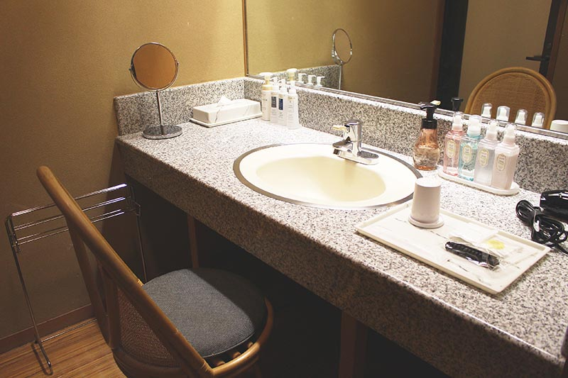 山翠樓的桃山第客房的洗卸保養品