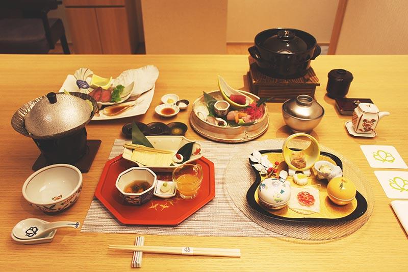 山翠樓的懷石料理晚餐
