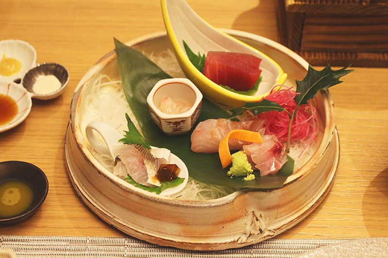 山翠樓的生魚片料理