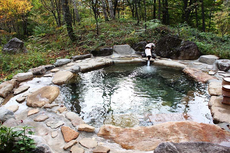 平湯的露天浴池