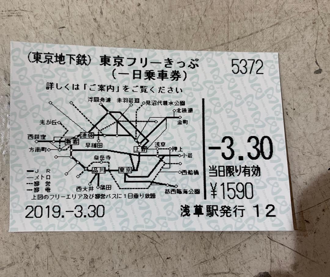 東京自由通票