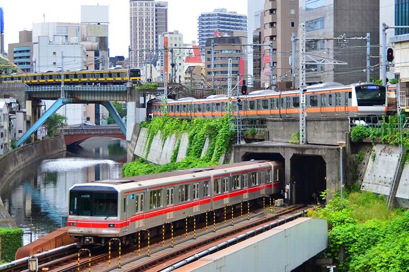 御茶水的鐵路風景: