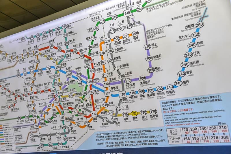 東京Metro地鐵交通路線圖