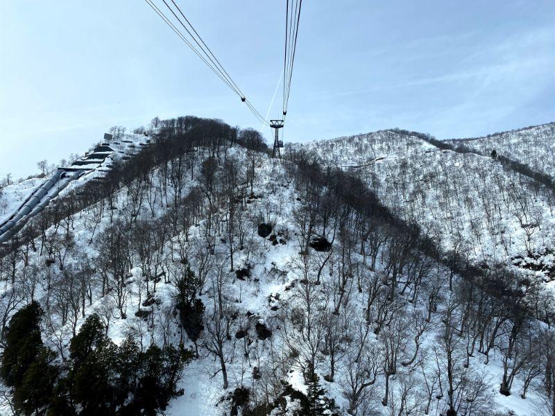 搭乘田代纜車的景觀