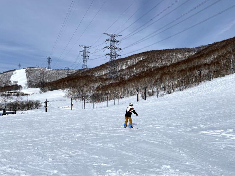 滑雪練習中