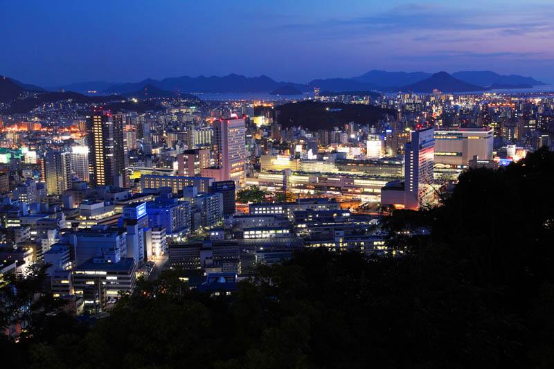 廣島車站夜景