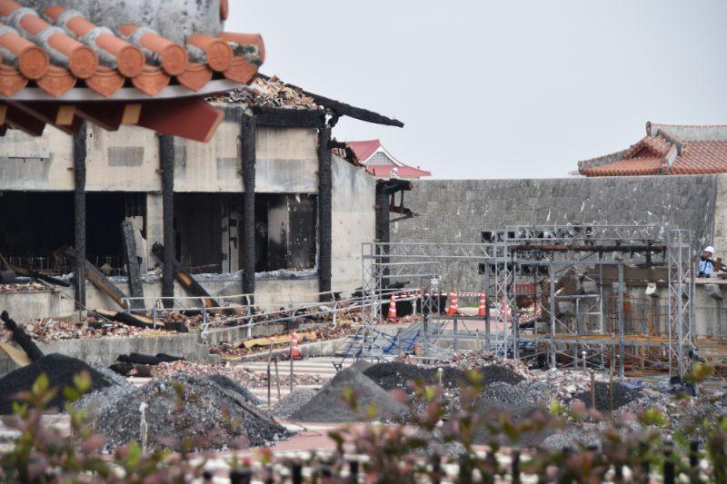 火災後的首里城