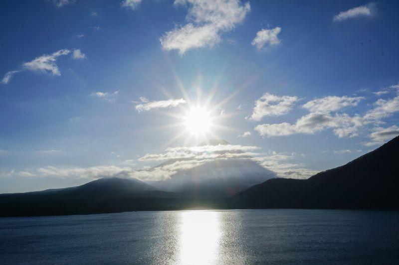 本栖湖 鑽石富士