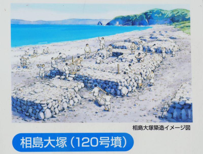 古代建造墳墓示意圖