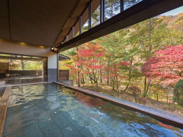 花卷溫泉佳松園的大浴池