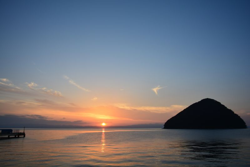 淺蟲溫泉夕陽景色