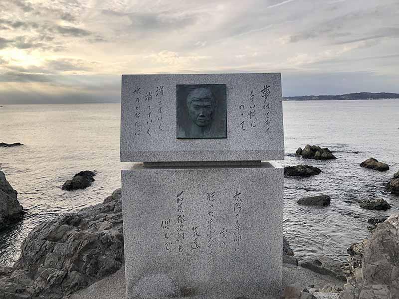 葉山女子旅森戶神社石原裕次郎記念碑
