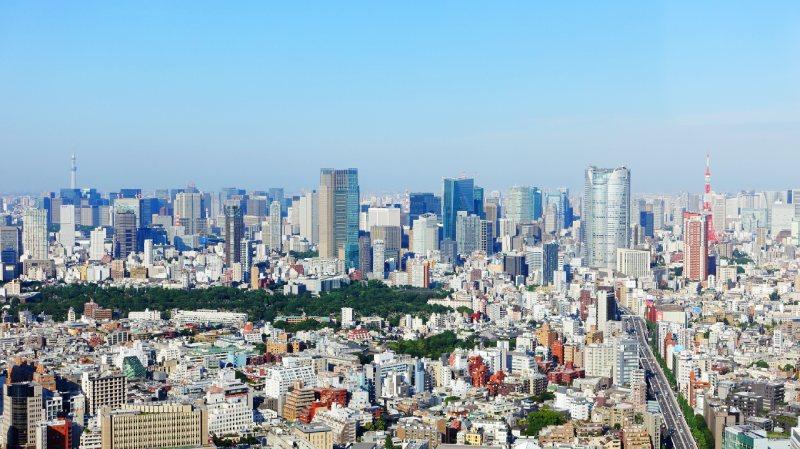 從SHIBUYA SKY眺望的東京街景