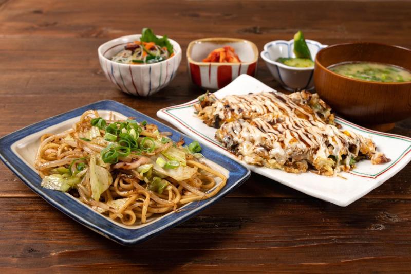 大阪燒炒麵午餐套餐