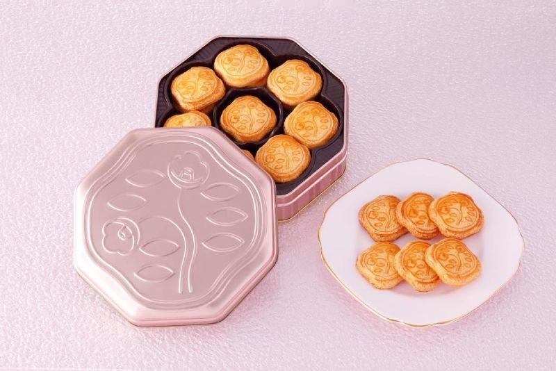 資生堂PARLOUR(資生堂パーラー)山茶花脆餅限定粉金色包裝