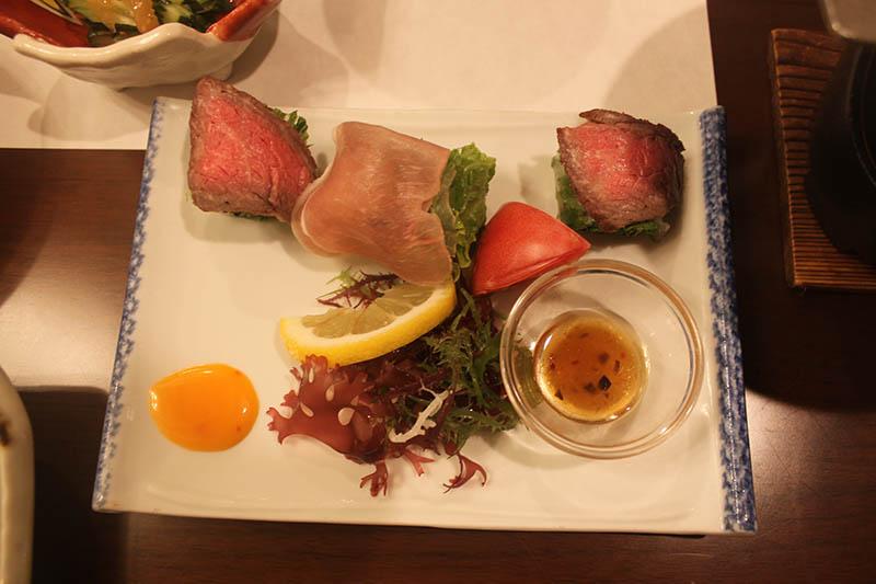 銀山溫泉昭和館晚餐山形牛
