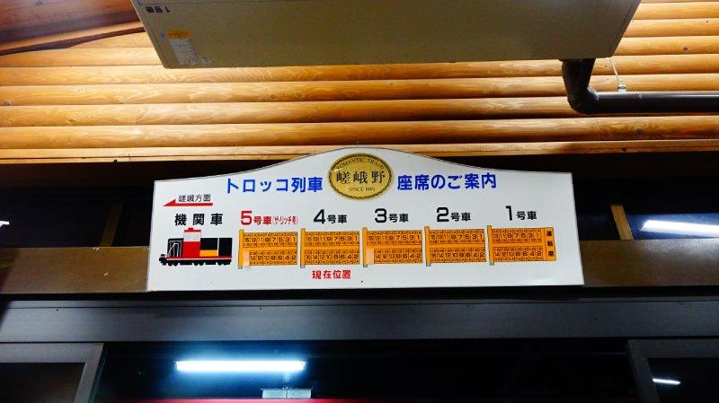 嵯峨野小火車座位告示