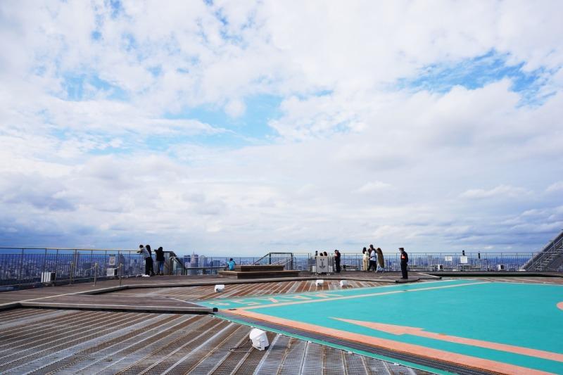 六本木新城森大廈的露天式展望台Sky deck