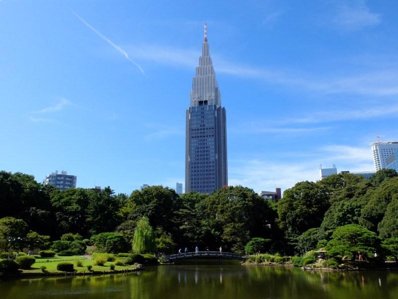 新宿御苑的日式庭園