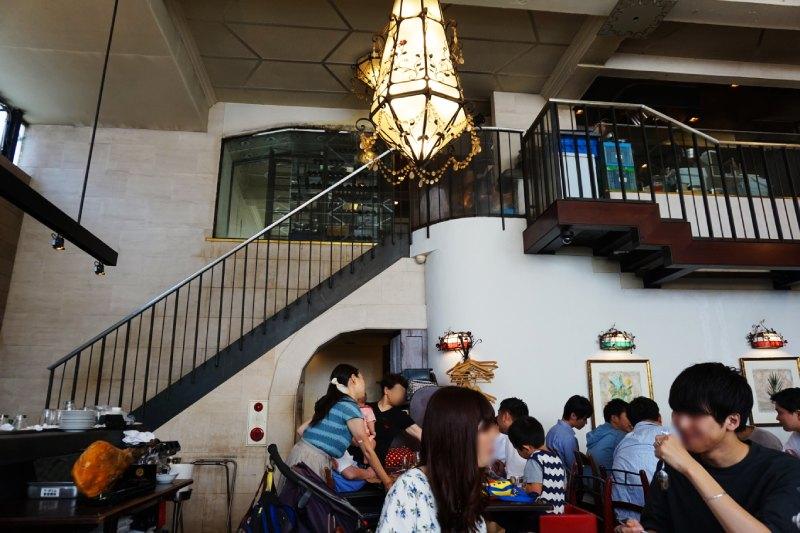 Cafe La Bohéme新宿御苑的二樓廚房
