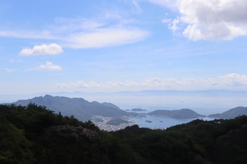 寒霞溪山頂俯瞰瀨戶內海