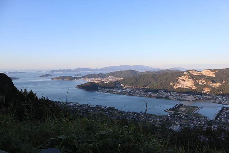 屋島遊鶴亭遠眺瀨戶內海